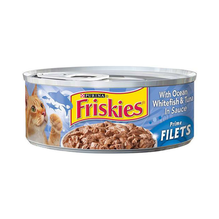 Friskies Cat Food with Ocean Whitefish & Tuna in Sauce