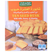 Halwani & Tahhan Ten Seed Rusk With Vitamins Milk & Honey