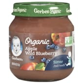 Gerber baby Pudding Organic Apple Wild Blueberry 113g