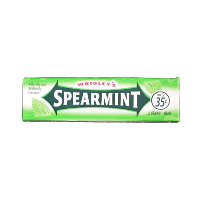 Wrigley's Spearmint Bubble Gums