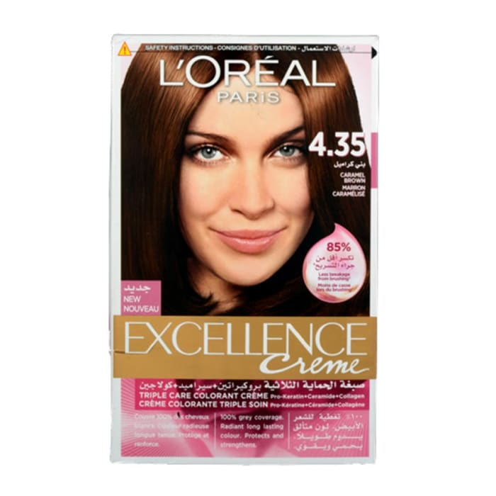 Loreal  Excellence Dark Caramel Brown Color