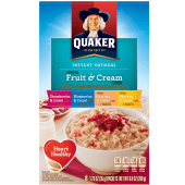 Quaker Instant Oatmeal Fruit & Cream Cereal 280g