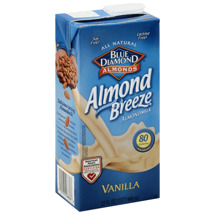 Blue Diamond Almond Breeze Vanilla Almond Milk - Lactose Free