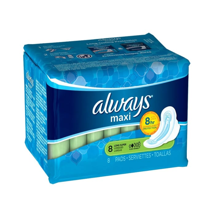 Always Long Super Flexi Wings Lady Pads