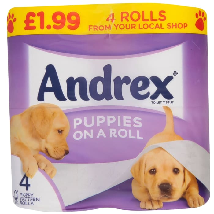 Andrex  Puppies On A Roll Toilet Tissue