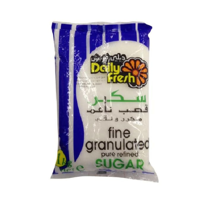 Daily Fresh Fine Granulated Pure Refined Sugar 1 KG