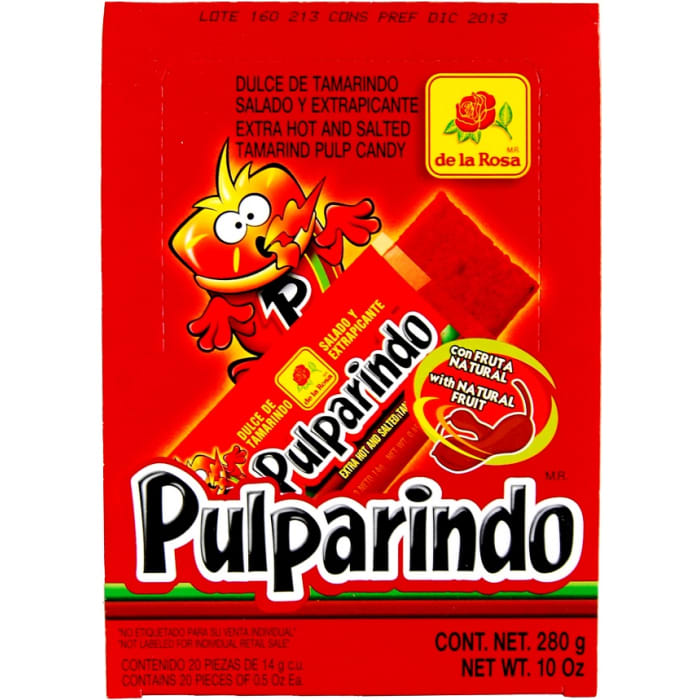 Pulparindo Tamarind Pulp Candy Extra Hot & Salted