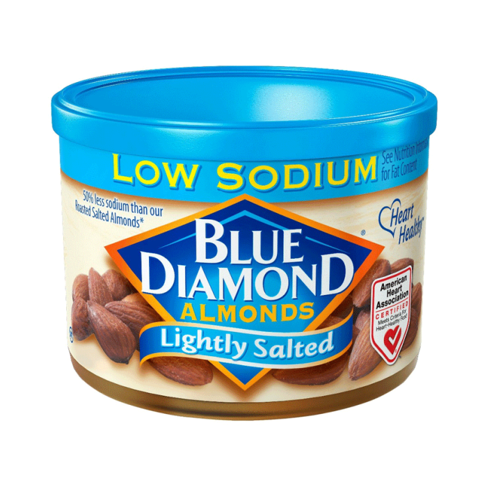 Blue Diamond Almonds Lightly Salted Low Sodium