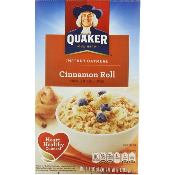 Quaker Cereals Oatmeal Cinnamon Roll
