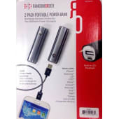 Random Order On-the-go 2800mah Power Bank Charger 2-pack - Graphite