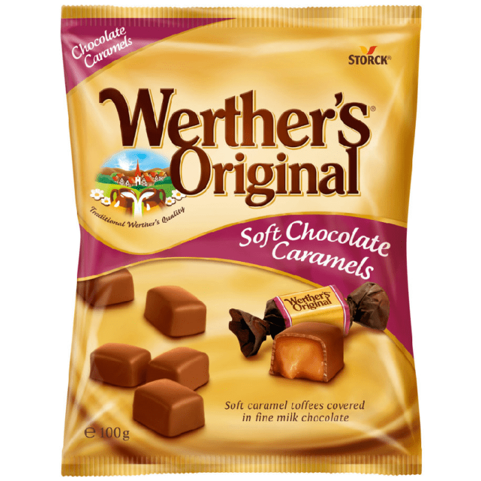 Werther's Original Soft Chocolate Caramels 100g