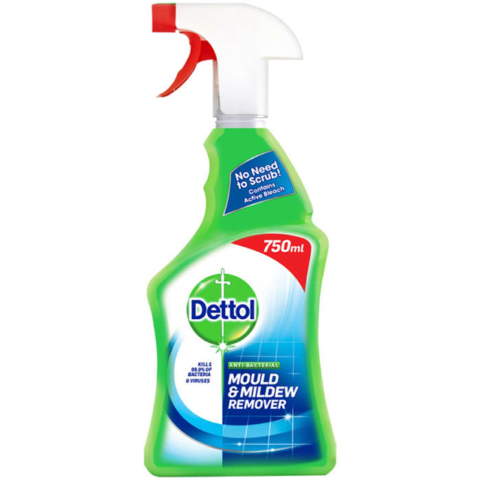 Dettol Trigger Anti Bacterial Mould & Mildew Remover 750Ml