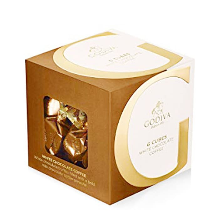 Godiva White Coffee Gift Cube 22/ct 176g
