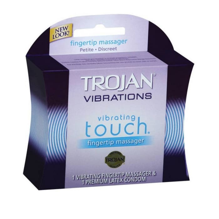 Trojan Condoms Finger Tip Massager Her Pleasure Vibrating Touch