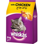 Whiskas Chicken Adult 1+ Years Dry Cat Food 3kg