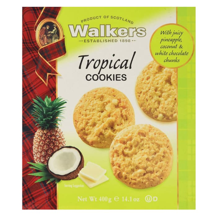 Walkers Tropical Cookies 400g