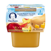 Gerber Apple Peach Squash Baby Pudding