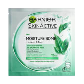 Garnier Skin Active Moisture Bomb Tissue Mask Green Tea Extract Super Hydrating Re Balancing Mask