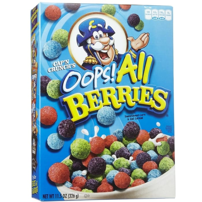 Capn Crunch Oops All Berries Cereal Grasshoppers prefer to eat grasses, leaves and cereal crops, but many grasshoppers are omnivorous. capn crunch oops all berries cereal