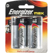 Energizer Max Alkaline D Battery - Pack of 2