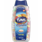 Tums Antacid Smoothies Assorted Fruit Extra Strength Chewable Tablets
