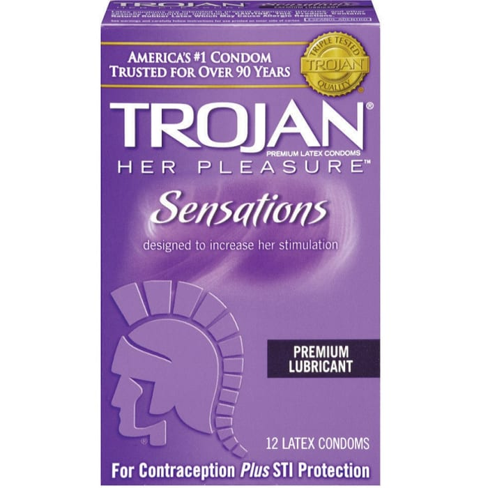 Trojan Condoms Her Pleasure Lubricated