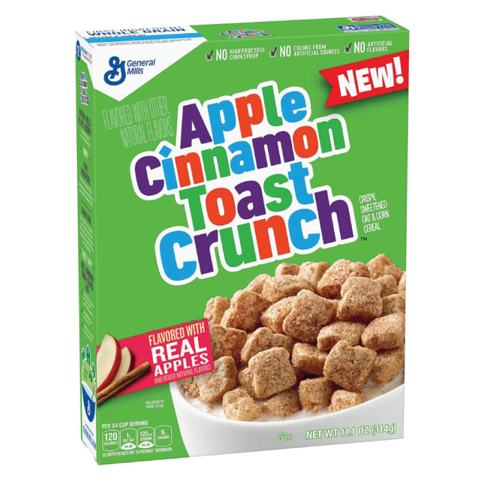 General Mills Apple Cinnamon Toast Crunch Cereal Box