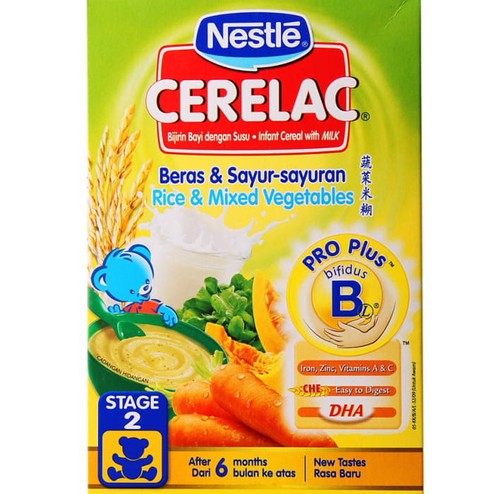 Nestle Rice & Mixed Vegetables Baby Cereal
