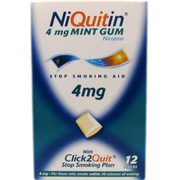 NiQuitin Fresh Mint 4mg Medicated Chewing Gums
