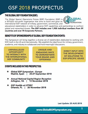 2018 Global SOF Foundation Prospectus Graphic