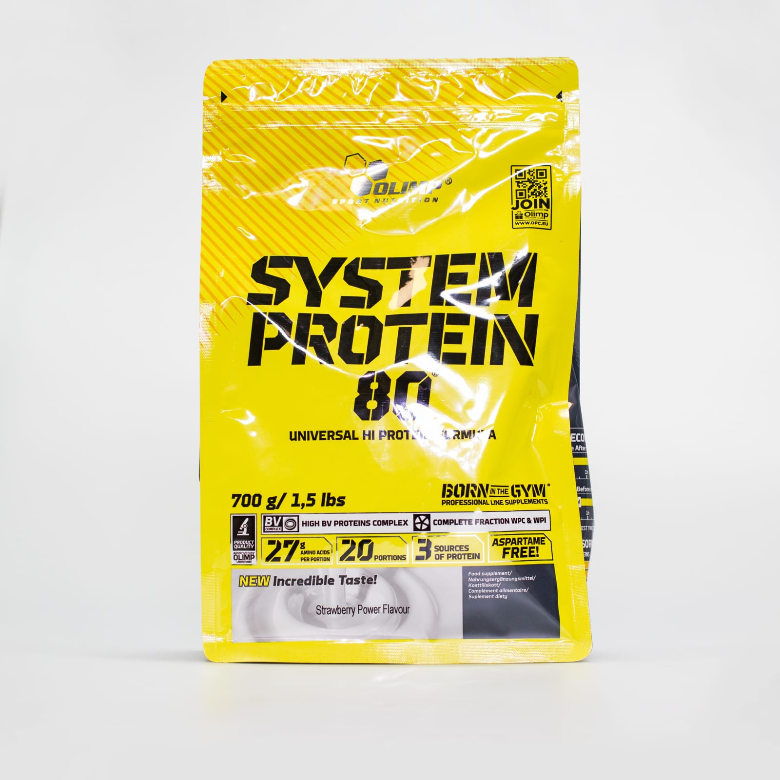 System Protein strawberry Doypack, 0,7 kg