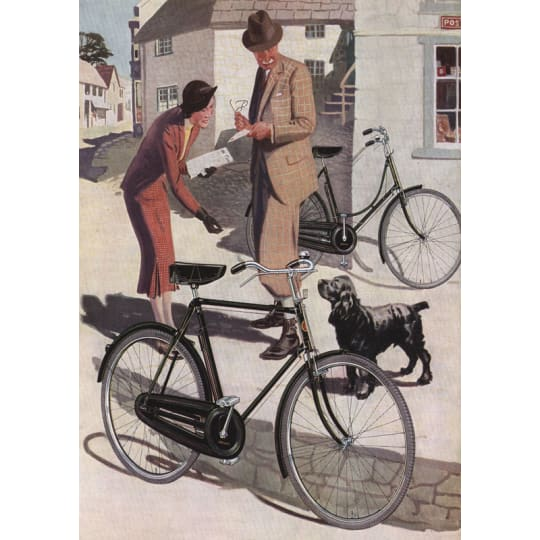Dementia friendly Couple With Bicycles - A4 (210 x 297mm)