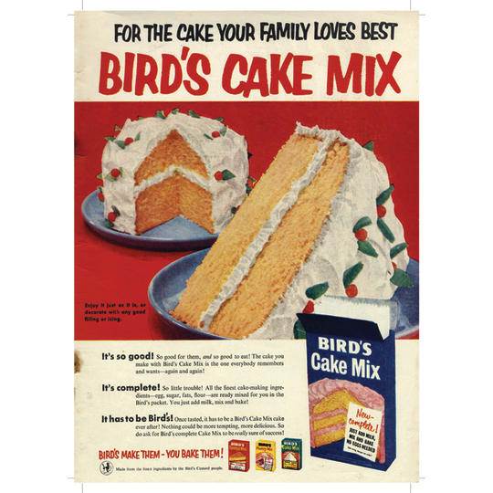 Birds Cake Mix - A4 (210 x 297mm)