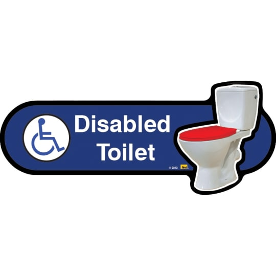 Dementia friendly Disabled toilet sign with symbol  - Dementia Signage