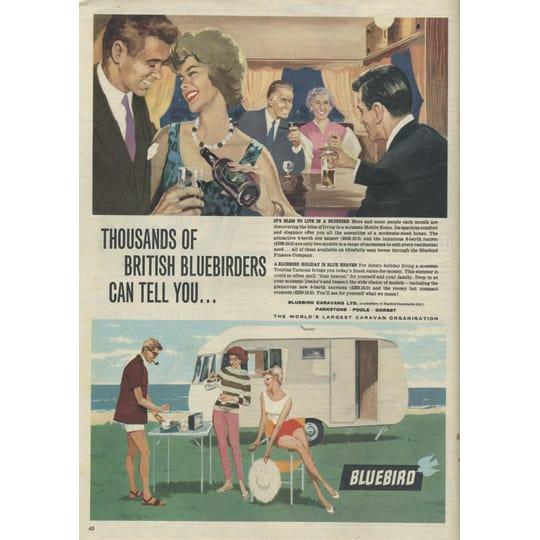 Dementia friendly Bluebird Caravans- A4 (210 x 297mm)
