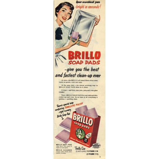 Dementia friendly Brillo Soap Pads - A4 (210 x 297mm)