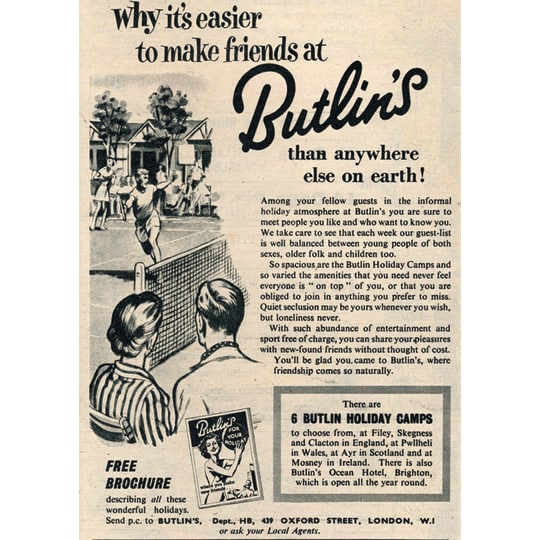 Butlins Holiday 10 - A4 (210 x 297mm)