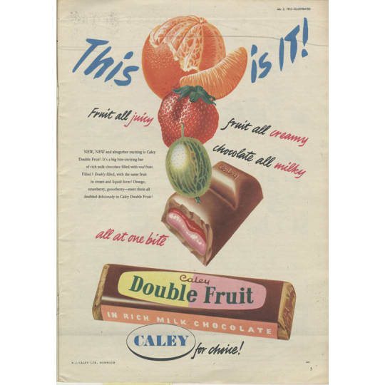 Dementia friendly Caley Double Fruit in Rich Chocolate - A4 (210 x 297mm)