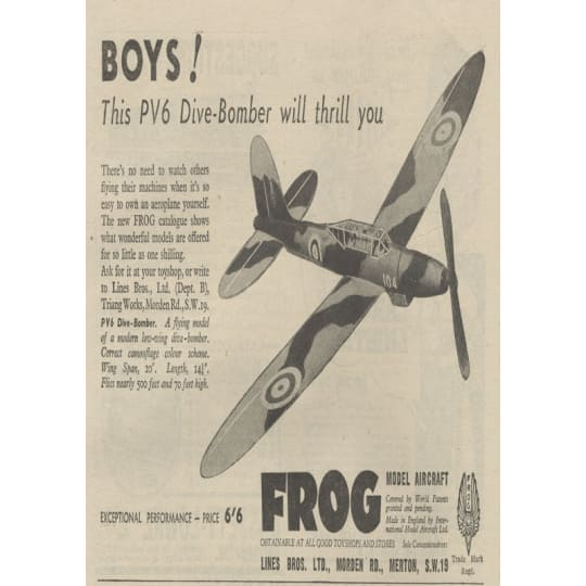 PV6 Dive-Bomber Model Aircraft for Boys - A4 (210 x 297mm)