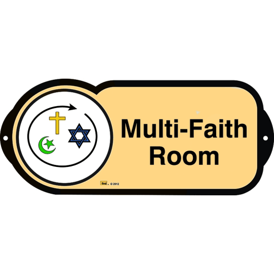 Multi-Faith Room sign for autism and learning disabilities - signage