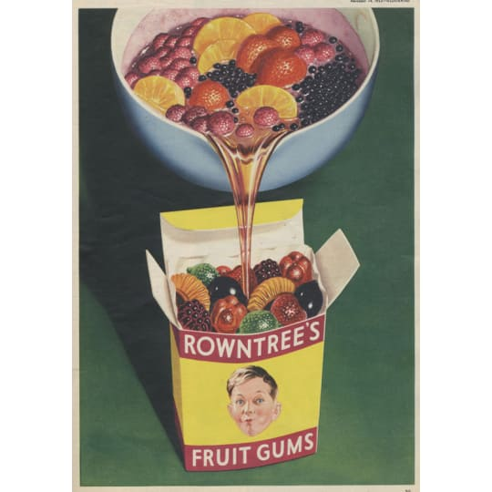 Rowntrees Sweets Vintage Ad - A4 (210 x 297mm)