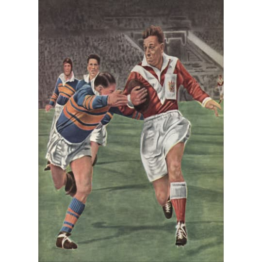 Professional Rugby Game - A4 (210 x 297mm)