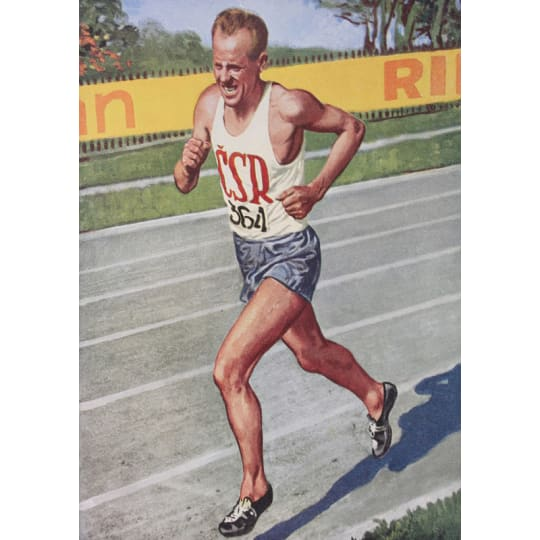 Man in Running Race - A4 (210 x 297mm)