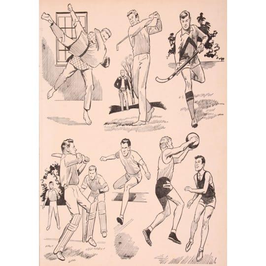 Various Classic Men's Sports 2 - A4 (210 x 297mm)