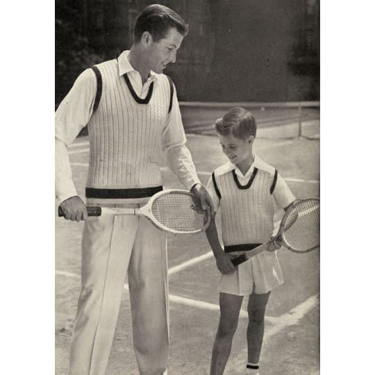 Dementia friendly Father and Son Tennis - A4 (210 x 297mm)