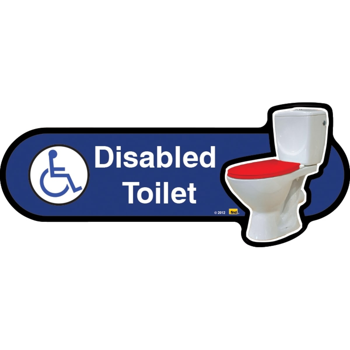 Disabled toilet sign with symbol  - Dementia Signage