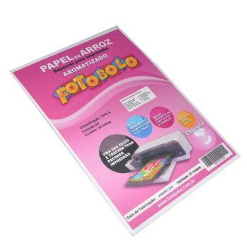 Papel Arroz Fotobolo- Aromatizado - Aroma Chiclete - Pacote com 20 folhas