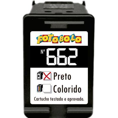 Cartucho 662 PRETO - com Corante Comestível