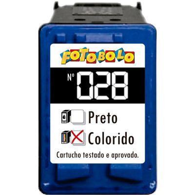 Cartucho HP 28 COLORIDO - com Corante Comestível