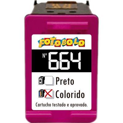 Cartucho 664 COLORIDO - com Corante Comestível